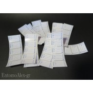 100x pre-printed stickers labels for test tubes vials containers