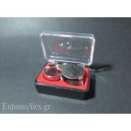30x metal loupe magnifier folding  glass lens