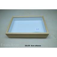 entomological wooden box  26x39 CLEAR 8cm