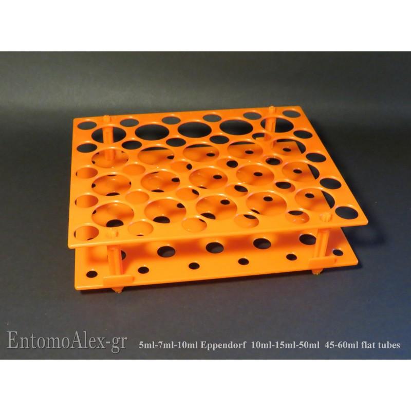 Vassoio porta provette orange multi eppendorf provette for Provette e portaprovette