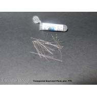 N° 0 insect pins transparent head STAINLESS STEEL