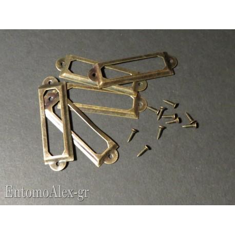 Brass metal frame x entomological drawers