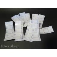 100x etichette prestampate lucide adesivi x provette