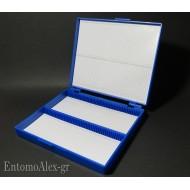scatola portavetrini microscopio x100 campioni