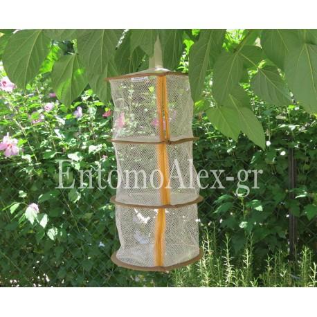 25x45 rete gabbia 3 scomparti pieghevole per allevamento insetti farfalle mantidi insetti stecco
