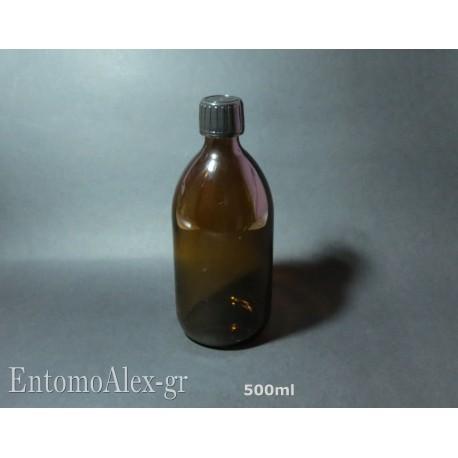 bottiglie flaconi vetro ambra 500ml