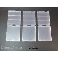 3x contenitore portavetrini microscopio x3 postale campioni