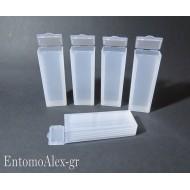scatola portavetrini microscopio x5 postale  campioni