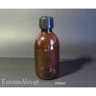 250ml flaconi bottiglie PET AMBRA tappo a vite