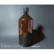 1000ml empty AMBER PET bottles screwcap