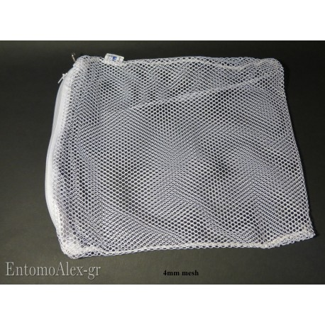 Zipped meshed spare bag 4mm hole x Winkler extractor
