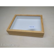 wooden box  19,5x26 CLEAR