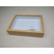 entomological wooden box  19,5x26 CLEAR