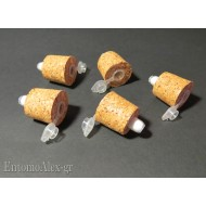 CORK STOPPERS x killing jar with cotton filled tube