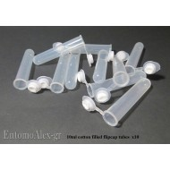 10X MICRO 10ml killing tube with cotton filled cap