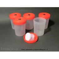 5x 120ml contenitori per uccisione con Carbonato di Ammonio