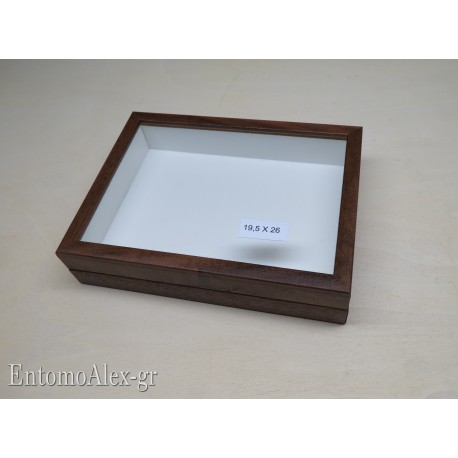 wooden box  19,5x26 BROWN