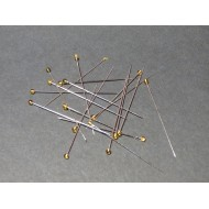 0.5x47 CLEAR YELLOW glass headed insects mounting pins