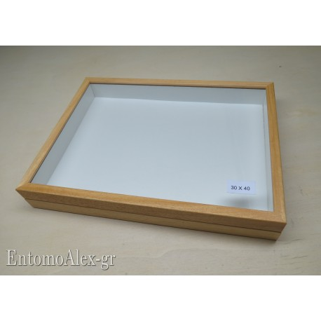 wooden box  30x40 CLEAR