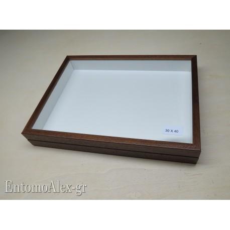 wooden box  30x40 BROWN